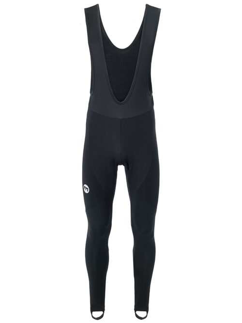 Long Winter Bib-Tights Front Black