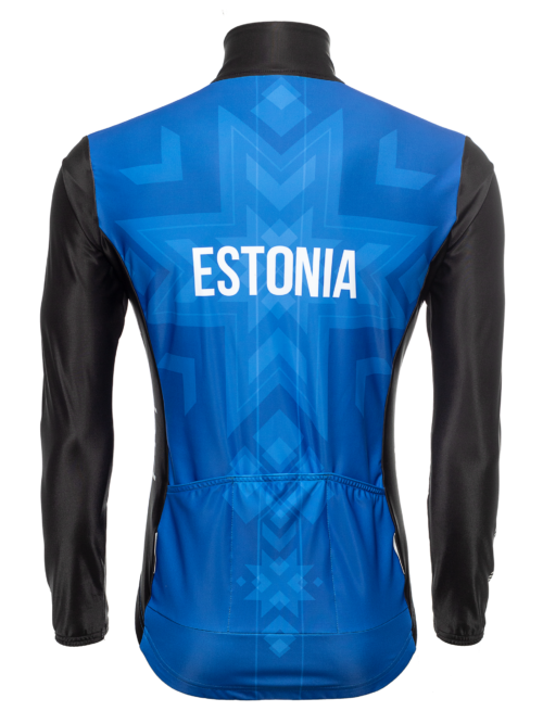 Aerodünaamiline ja tuule eest kaitsev Eesti koondise ratturite pikk rattasärk Pro