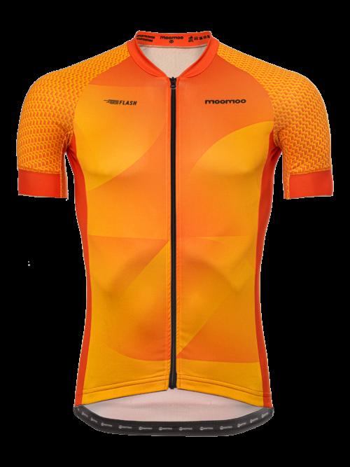 Üleni taaskasutatud materjalidest valmistatud oranž keskkonda säästev meeste lühike rattasärk Pro